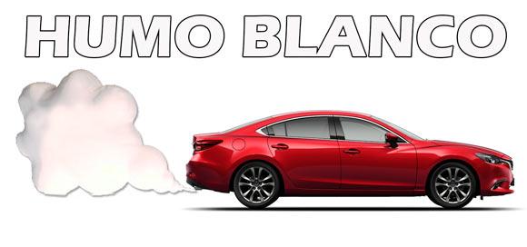 humo blanco coche