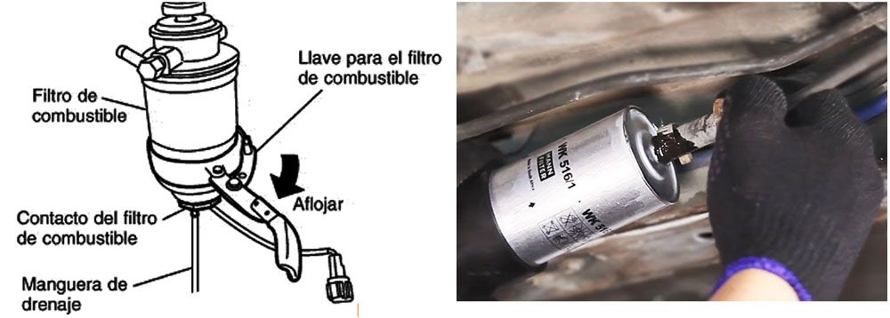 Cambiar filtro combustible