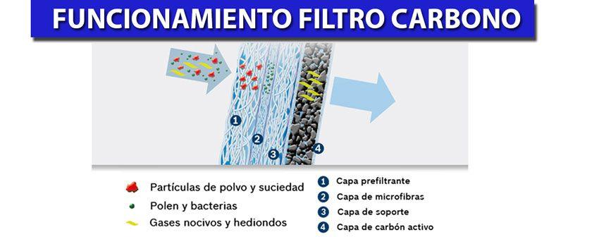 Funcionamiento filtro antipolen carbono